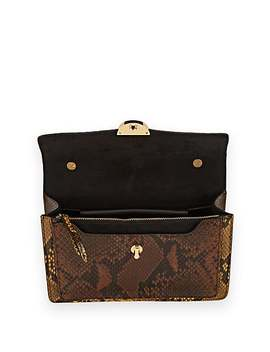 Snake Embossed Leather Crossbody Bag by Dries Van Noten