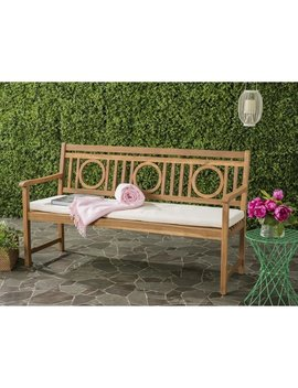 Safavieh Montclair Outdoor Brown/ Beige 3 Seat Bench by Safavieh