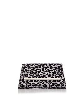 Quiz   Glitter Leopard Print Clutch Bag by Quiz