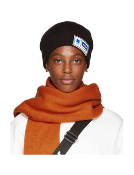 Black Tetris Label Beanie by Ader Error