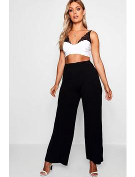 Plus Tailored Wide Leg Trouser by Boohoo