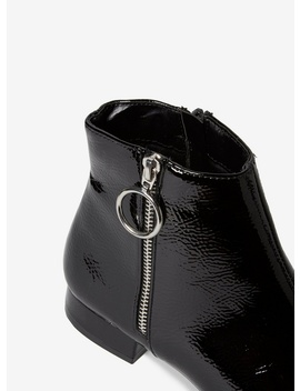 Black Patent 'merlot' Ankle Boots by Dorothy Perkins