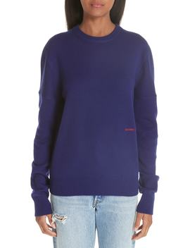 Logo Embroidered Cashmere Sweater by Calvin Klein 205 W39 Nyc