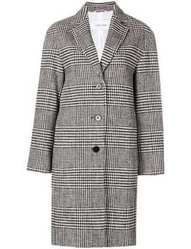 Check Patterned Coat by Calvin Klein