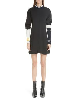 Stripe Sleeve Logo Knit Dress by Calvin Klein 205 W39 Nyc