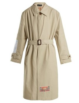 Patch Appliqué Cotton Blend Trench Coat by Martine Rose