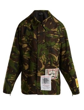 Camouflage Cotton Blend Jacket by Martine Rose