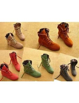 Ladies Womens Army Combat Flat Lace Up Spring Autumn Ankle Boots Shoes New 338 5 by Unbranded