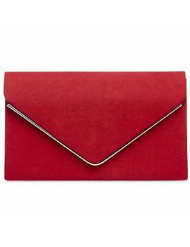 Caspar Ta356Women's Elegant Textile Suede Envelope Clutch Bag/Evening Bag With Long Chain by Amazon