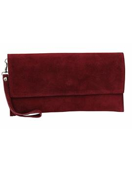 Ambra Moda Ladies Suede Clutch Handbag Veloursleder Bag Hand Strap Wl811 by Amazon