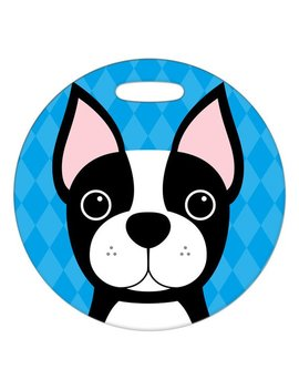 Luggage Tag   Boston Terrier   Round Plastic Bag Tag by Etsy