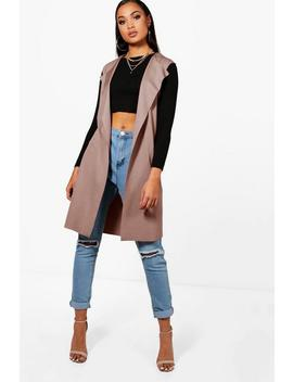 Sleeveless Belted Duster by Boohoo
