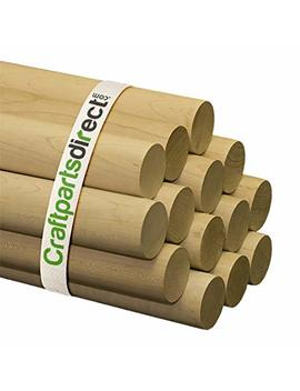 """Wooden Dowel Rods   2"""" X 36"""" Unfinished Hardwood Sticks   For Crafts And Diy'ers   Craftparts Direct   Bag Of 1 by Craftparts Direct"""