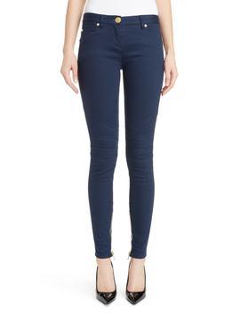 Skinny Moto Jeans by Balmain