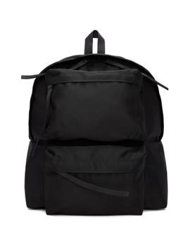 Black Double Pocket Backpack by Diet Butcher Slim Skin