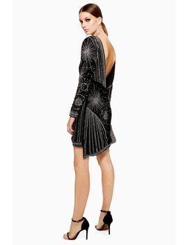 Petite Odyssey Embellished Velvet Dress by Topshop