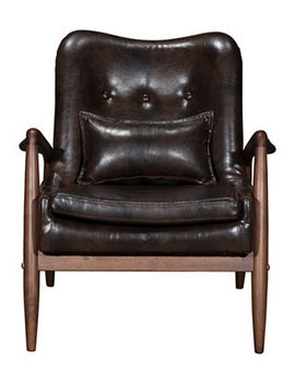 Bully Lounge Chair & Ottoman Brown by Zuo