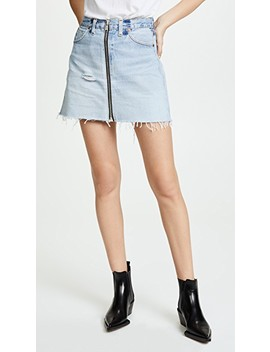Reconstructed Zip Pocket Skirt by Re/Done