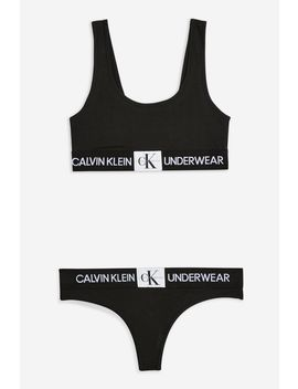 Black Underwear Set By Calvin Klein by Topshop