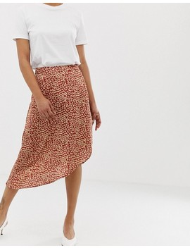 Vila Satin Leopard Skirt by Vila