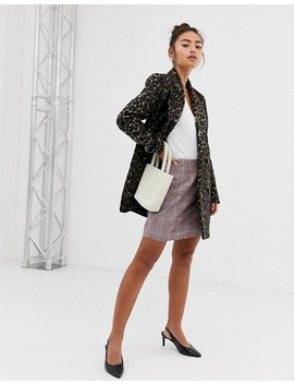 Pimkie Coat In Leopard Print by Pimkie