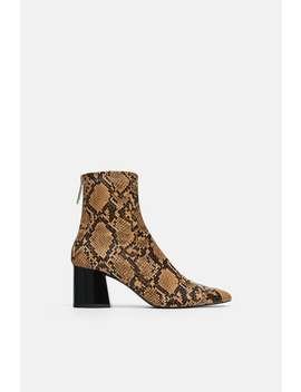 Animal Print High Heel Ankle Boots  Collection Timeless Woman Corner Shops by Zara