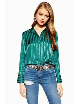 Tall Self Stripe Shirt by Topshop