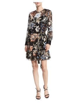 Cora Ruffle Hem Floral Dress by Tory Burch
