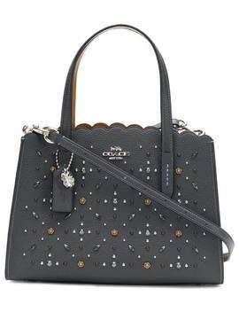 сумка тоут с логотипом и кристаллами by Coach
