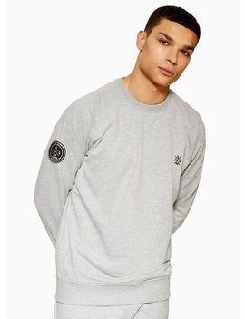Jog On Grey Loopback Raglan Sweatshirt* by Topman