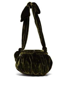 Joana Gathered Velvet Bag by Cult Gaia