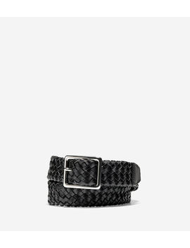 32mm Tubular Woven Leather Belt by Cole Haan