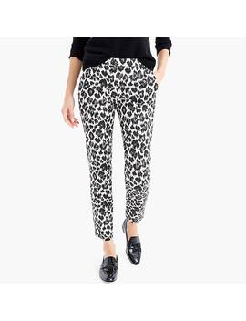 Martie Slim Crop Pant In Leopard Stretch Cotton by J.Crew