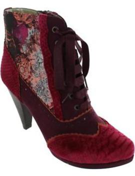 Ruby Shoo Peri Women's Floral Jacquard Wingtip Brogue High Heel Ankle Boots New by Ruby Shoo
