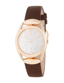 Women's Horsebit Leather Watch, 34mm by Gucci