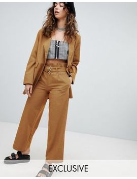 Sacred Hawk High Waisted Pants With Belt by Sacred Hawk
