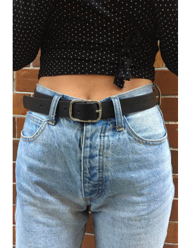 Black And Silver Rectangle Buckle Belt by Brandy Melville