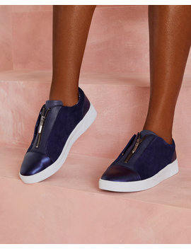 Zip Detail Leather Trainers by Ted Baker