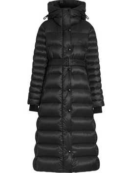 Down Filled Hooded Puffer Coat by Burberry