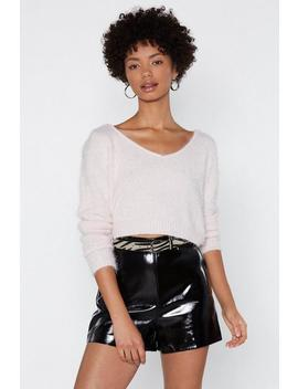 Make Up For Lost Shine Faux Leather Shorts by Nasty Gal