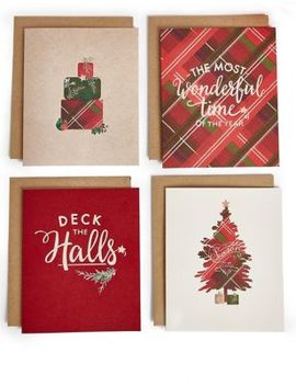 Festive Tartan Christmas Charity Cards Pack Of 20 by Marks & Spencer