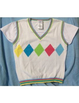 Med 7 9 Juniors No Boundaries Argyle Blouse Top Shirt Womens Ladies Misses Vgc * by No Boundaries
