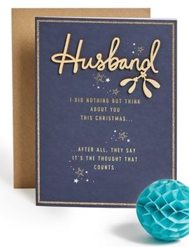 Husband Fun Christmas Charity Card by Marks & Spencer