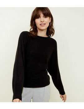 Black Batwing Sleeve Jumper by New Look