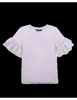 Ruffled Crewneck T Shirt by Ralph Lauren