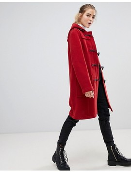 Gloverall Mid Paneled Duffle Coat With Hood by Gloverall