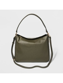 Fold Over Shoulder Hobo Handbag   A New Day™ by A New Day