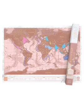 Luckies World Scratch Map, Rose Gold by Luckies
