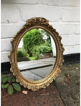 Lovely Vintage Gold Mirror Made From Alabaster   Lovely Vintage Condition. by Etsy