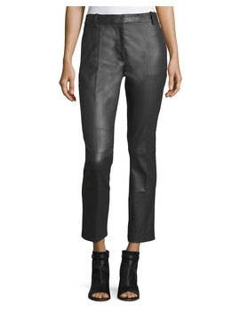Zoom Stretch Leather Trousers by Neiman Marcus